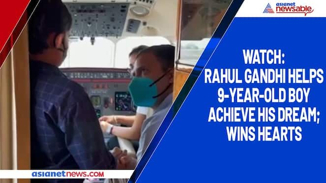 Watch Rahul Gandhi helps 9-year-old boy achieve his dream; wins hearts-tgy
