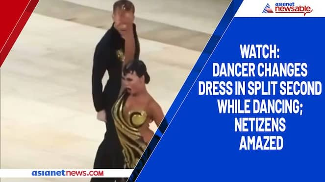 Watch Dancer changes dress in split second while dancing; netizens amazed-tgy