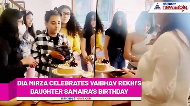 Dia Mirza, Vaibhav Rekhi, along with his ex-wife Sunaina celebrate their daughter Samaira's birthday (Video) RCB
