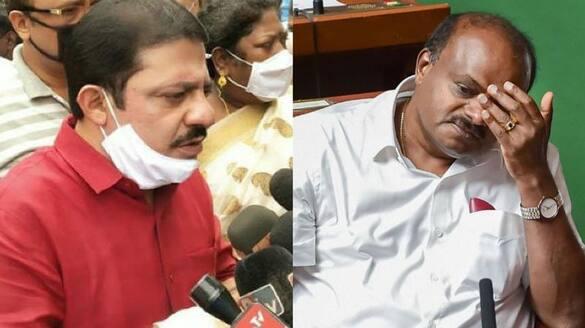 Congress MLA Zameer Ahmed Khan Hits back at HD Kumaraswamy Over allegation on Siddu rbj