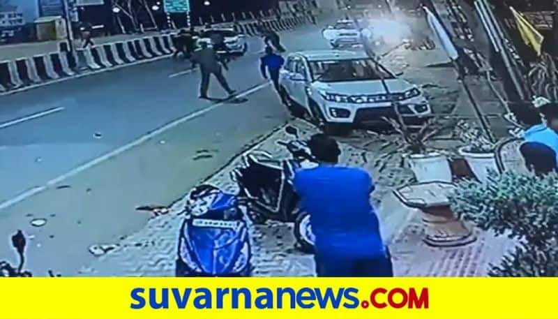 On CCTV UP Cops Fire At BJP Leader Car He Says Conspiracy To Kill pod