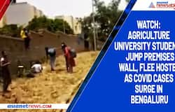 Watch: Agriculture University students jump premises wall, flee hostel as Covid cases surge in Bengaluru
