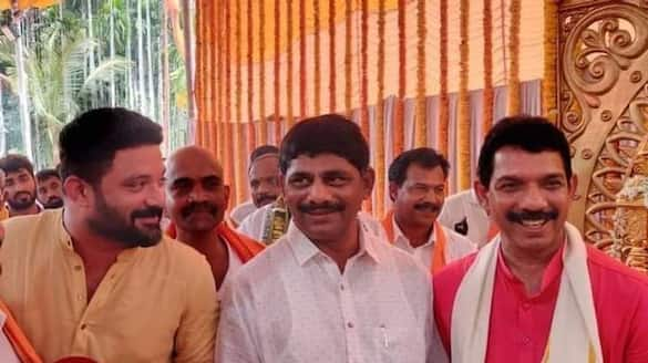 Politics and friendship Congress mp dk suresh in BJP State president nalin kumar kateel house mah