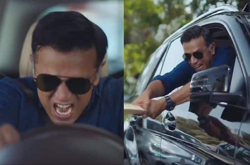 Former cricketer Rahul Dravid surprised fans with angry side in advertisment video ckm