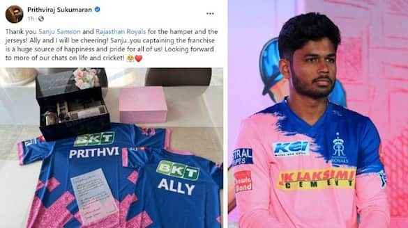 Prithviraj Sukumaran wishes Sanju Samson and Rajasthan Royals