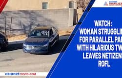 Watch: Woman struggling for parallel park with hilarious twist leaves netizens ROFL
