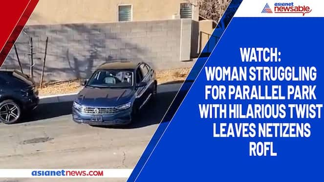 Watch Woman struggling for parallel park with hilarious twist leaves netizens ROFL-tgy