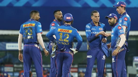 Mumbai Indians beat Kolkata Knight Riders by 10 runs in ipl 2021 spb