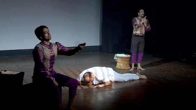 The play ithanente peru on the martyrdom of Gandhiji getting appreciations