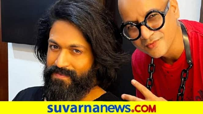 Rocking Star Yash make over by Renowned hair stylist Aalim Hakim