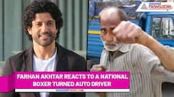 Farhan Akhtar gets emotional, reacts to a National boxer turned auto driver's story (Watch Here) RCB