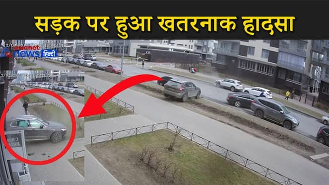 Father Fast Reflexes Saves Child from Out of Control Car kpv