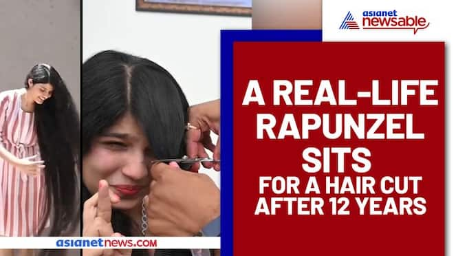 Gujarats Rapunzel cuts her hair after 12 years; Watch this viral video - ank