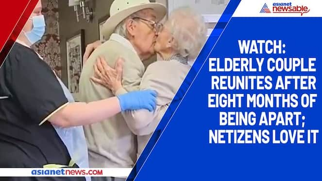 Watch Elderly couple reunites after eight months of being apart; netizens love it-tgy