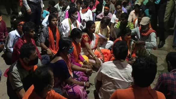 BJP Candidate Priya saha attacked by opposition, protest on police station for FIR DHA