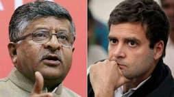 <p>rahul gandhi ravi shankar prasad</p>