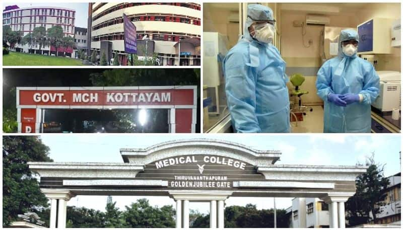 covid 19 hospitals in crisis more health workers tested positive in trivandrum kottayam medical colleges