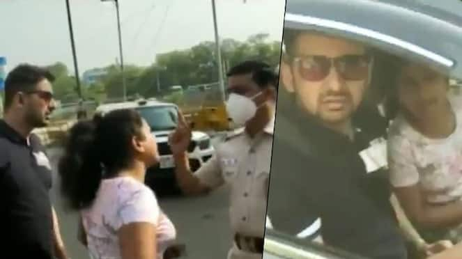 Husband blames wife, couple abusing Delhi cops who caught them without a mask goes viral-VPN