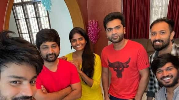 simbu and mahath surprise visit for cook with comali kani house