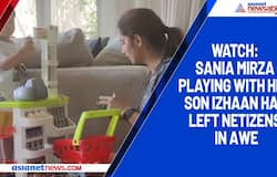 Watch: Sania Mirza playing with her son Izhaan has left netizens in awe