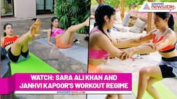 Sara Ali Khan and Janhvi Kapoor work out together to 'get the golden glow'; Watch Video - gps