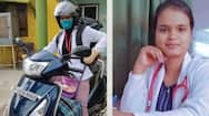 positive thoughts and good news of corona virus Lady doctor scooty arrived 180 km from naxal area kpr