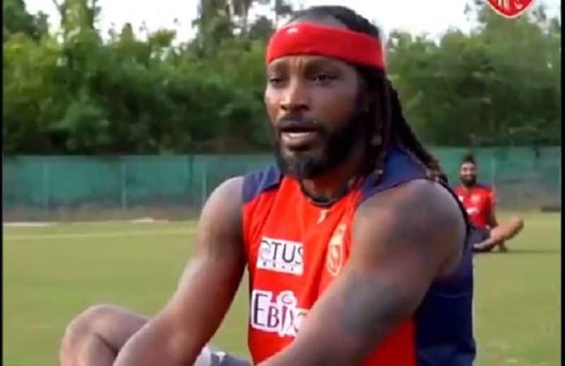 IPL 2021 Punjabk Kings batsman chris gayle tries bollywood Mogambo khush hua dialogue ckm