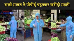 actress rakhi sawant seen vegetable shopping in ppe suit kpv