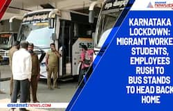 Karnataka lockdown: Migrant workers, students, employees rush to bus stands to head back home