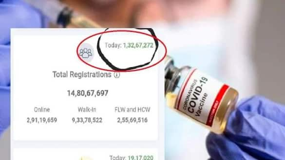 covid-19 vaccination registrations crossed 1-32 crore in one day through cowin portal