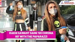 Rakhi Sawant steps outside, maintaining all COVID-19 precautions; sings 'Go Corona Go' with paparazzi - ank