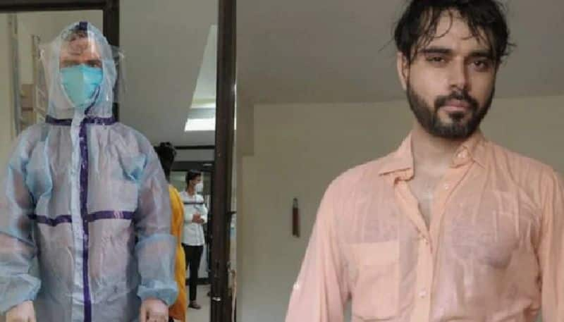 doctor shares painful picture in which he seen drenched in sweat after wearing ppe suit
