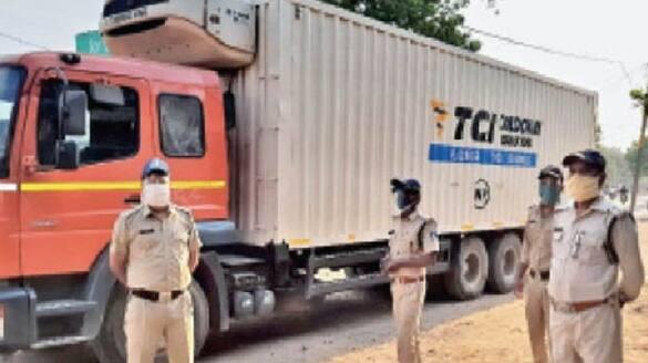 madhya pradesh corona vaccine trucks loaded with 240 lakh doses of covaxine in narsinghpur missing driver  KPR