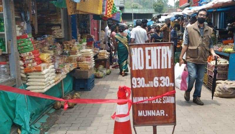 Lockdown campaign, shops in Munnar overcrowded, amid covid restrictions