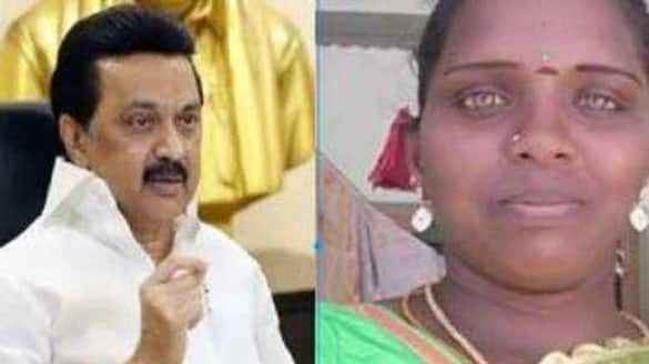 DMK Leader MK Stalin Wish recovery to women who  cuts tongue