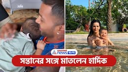 After IPL cancel due to covid Hardik Pandya have seen playing with his son PNB