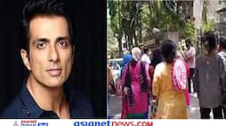 A crowd gathered outside the house of Sonu Sood, watching the video, prayed to the actor KPZ