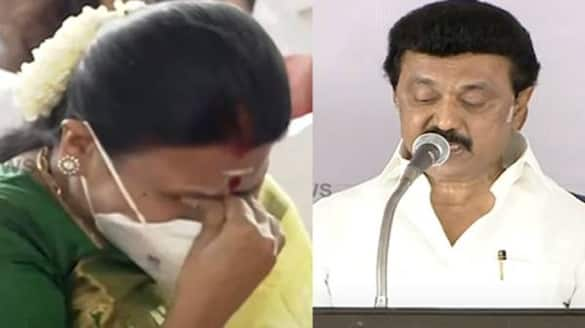 MK Stalin takes oath as Tamil Nadu chief minister durga stalin extrem happiness tears video