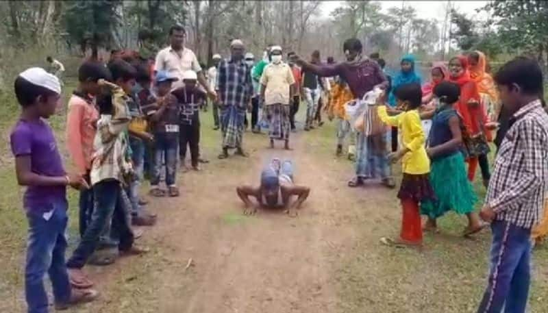 TMC Worker covers a three-kilometer road by hand