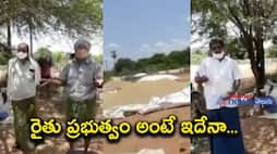 government didn't buy grains and didn't give vaccine .... Thadepalli farmers