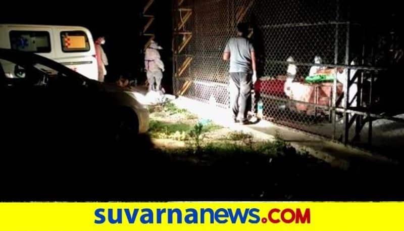 Car headlight Use For Covid Victim cremation in Tumakuru   snr