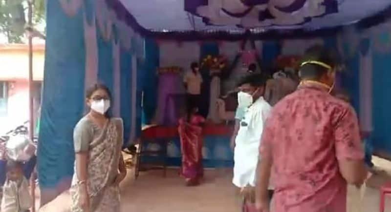 ಮದುವೆ ಮನೆ ಮಂದಿಗೆ ವಾರ್ನಿಂಗ್ ಕೊಟ್ಟ ಹುನಗುಂದ ತಹಶೀಲ್ದಾರ್ ಶ್ವೇತಾ ಬಿಡಿಕರ