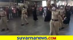 Chennai Railway Police dance to Enjoy Enjaami raise Covid 19 awareness pod