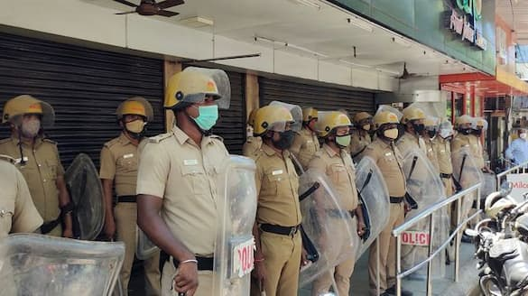 Police security tightened in front of admk office MLA meeting also underwenrt