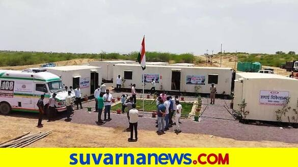 2 Covid care centres built in Rajasthan Barmer district within 48 hours pod