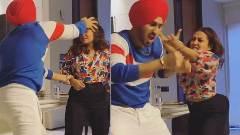 Neha kakkar shares a funny video with rohanpreet singh in her instagram BRD