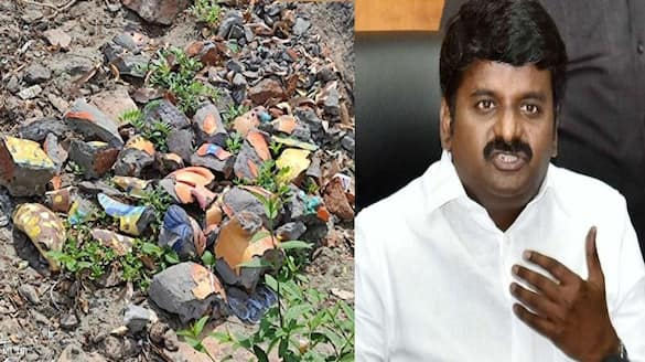 former health minister vijayabaskar condemns the act of statues of gods demolished in viralimalai