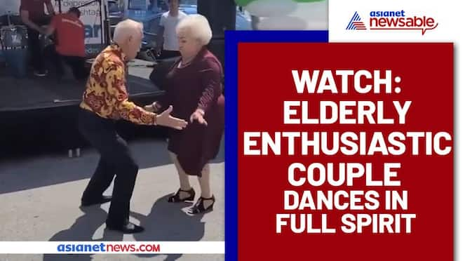 Elderly Couple Grooving in full spirit; Watch Viral Video - gps