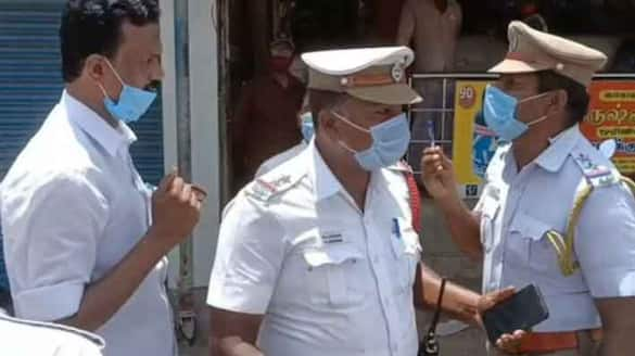 Argument with DMK party... Traffic police transfered