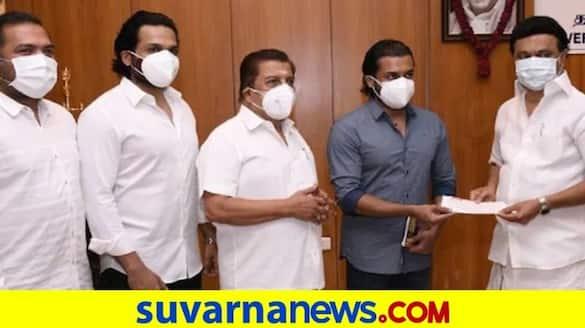 Suriya Sivakumar and Karthi Donate 1 Crore to TN CMs Covid-19 Relief Fund dpl